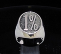 Picture of 21 x STERLING SILVER  OUTLAW BIKER RINGS 1% ER ONE PERCENT MOTORBIKE CLUB MC OVAL SHAPE EMO WHOLESALE-LOT