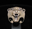 Picture of 21 x BRONZE MEN'S ANIMAL RINGS WITH THE HEAD OF A VICIOUS PANTHER WHOLESALE-LOT