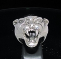 Picture of 21 x STERLING SILVER MEN'S ANIMAL RINGS WITH THE HEAD OF A PANTHER WHOLESALE-LOT