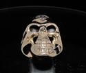 Picture of 21 x BRONZE OUTLAW BIKER GRINING SKULL RINGS 1% ER ONE PERCENT MOTORBIKE CLUB MC WHOLESALE-LOT
