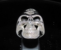 Picture of 21 x STERLING SILVER OUTLAW BIKER GRINING SKULL RINGS 1% ER ONE PERCENT MOTORBIKE CLUB MC WHOLESALE-LOT