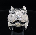 Picture of 21 x STERLING SILVER RINGS PIT BULL TERRIER DOG STAFFORDSHIRE BULLDOG WHOLESALE-LOT