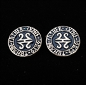 Picture of 21 x ROUND STERLING SILVER CELTIC RUNES CUFFLINKS GOTHIC TRIBAL BLACK WHOLESALE-LOT