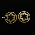 Picture of 21 x ROUND BRONZE STAR WARS CUFFLINKS IMPERIAL COAT OF ARMS SEAL BLACK WHOLESALE-LOT