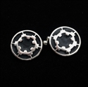 Picture of 21 x ROUND STERLING SILVER STAR WARS CUFFLINKS IMPERIAL COAT OF ARMS BLACK WHOLESALE-LOT