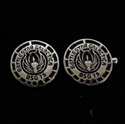Picture of 21 x ROUND STERLING SILVER OFFICER CUFFLINKS BATTLESTAR GALACTICA BSG 75 BLACK WHOLESALE-LOT