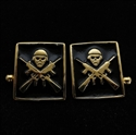 Picture of 21 x SQUARE BRONZE CUFFLINKS M16 FIGHTER IRON MAIDEN MASCOT BLACK WHOLESALE-LOT