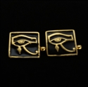 Picture of 21 x SQUARE BRONZE CUFFLINKS UDJAT ALL SEEING EYE OF RA WEDJAT EGYPT BLACK WHOLESALE-LOT