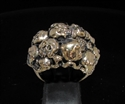 Picture of 21 x BRONZE MEN'S RINGS 13 CLUSTER SKULL OUTLAW GRAVEYARD WHOLESALE-LOT