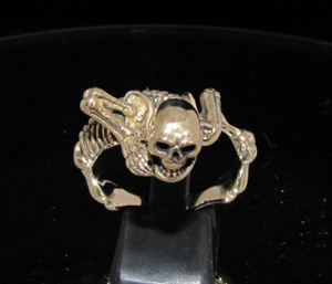 Picture of 21 x BRONZE MEN'S RINGS WARLORD ALIEN SKELETON SKULL WHOLESALE-LOT
