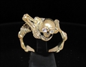 Picture of 21 x BRONZE RINGS WARLORD ALIEN SKULL WARRIOR CZ EYES WHOLESALE-LOT