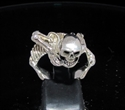 Picture of 21 x STERLING SILVER MEN'S RINGS WARLORD ALIEN SKELETON SKULL WHOLESALE-LOT