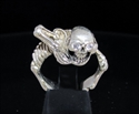 Picture of 21 x STERLING SILVER RINGS WARLORD ALIEN SKULL WARRIOR CZ EYES WHOLESALE-LOT