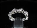 Picture of 21 x STERLING SILVER BAND RINGS 6 MINI SKULL GREATFUL DEATH BIKER WHOLESALE-LOT