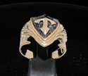Picture of 21 x BRONZE MEN'S RINGS CRUSADER KNIGHT CROSS COAT OF ARMS WHOLESALE-LOT