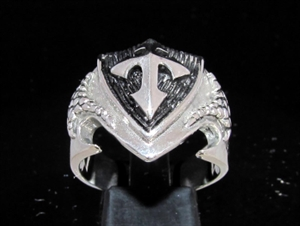 Picture of 21 x STERLING SILVER MEN'S RINGS CRUSADER KNIGHT CROSS COAT OF ARMS WHOLESALE-LOT