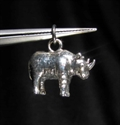 Picture of 21 x STERLING SILVER PENDANTS WITH A SMALL RHINO RHINOCEROS WHOLESALE-LOT
