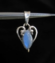 Picture of 21 x STERLING SILVER HEART PENDANTS WITH MARQUISE SHAPED LABRADORITE WHOLESALE-LOT