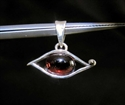 Picture of 21 x HANDMADE STERLING SILVER PENDANTS WITH OVAL SHAPED GARNET CABOCHON WHOLESALE-LOT