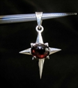 Picture of 21 x HANDMADE STERLING SILVER CROSS PENDANTS WITH OVAL SHAPED GARNET CABOCHON WHOLESALE-LOT