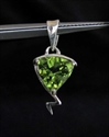 Picture of 21 x HANDMADE STERLING SILVER CROSS PENDANTS WITH TRILLION CUT PERIDOT WHOLESALE-LOT
