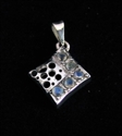 Picture of 21 x STERLING SILVER PENDANTS WITH 5 ROUND CUT BLUE FIRE MOONSTONES WHOLESALE-LOT