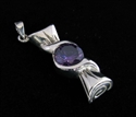 Picture of 21 x FANCY STERLING SILVER PENDANTS WITH ROUND PURPLE CZ WHOLESALE-LOT