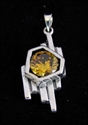 Picture of 21 x FANCY STERLING SILVER PENDANTS WITH ROUND YELLOW CZ WHOLESALE-LOT
