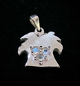 Picture of 21 x STERLING SILVER PALMTREE PENDANTS WITH 3 ROUND CUT BLUE FIRE MOONSTONES WHOLESALE-LOT