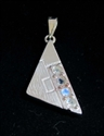 Picture of 21 x STERLING SILVER PENDANTS WITH 4 ROUND CUT BLUE FIRE MOONSTONES WHOLESALE-LOT