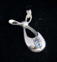 Picture of 21 x STERLING SILVER PENDANTS WITH 2 ROUND CUT BLUE FIRE MOONSTONES WHOLESALE-LOT