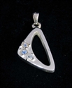 Picture of 21 x STERLING SILVER PENDANTS WITH 3 ROUND CUT BLUE FIRE MOONSTONES WHOLESALE-LOT