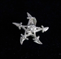 Picture of 21 x STERLING SILVER PENDANTS NINJA CLAW STAR WITH SKULL WHOLESALE-LOT
