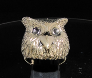 Picture of 21 x BRONZE ANIMAL RINGS OWL HEAD WITH BIG EYES WHOLESALE-LOT