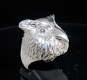 Picture of 21 x STERLING SILVER ANIMAL RINGS OWL HEAD WITH BIG EYES WHOLESALE-LOT