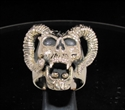 Picture of 21 x BRONZE MEN'S BIKER RINGS RAM SKULL GOAT DEVIL SIGN WHOLESALE-LOT