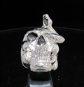 Picture of 21 x STERLING SILVER MEN'S OUTLAW RINGS SNAKE SKULL DIED BY BULLET WHOLESALE-LOT