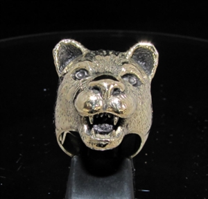 Picture of 21 x BRONZE ANIMAL RINGS FEMALE LION LIONESS WHOLESALE-LOT