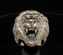 Picture of 21 x BRONZE MEN'S ANIMAL RINGS HUGE MALE LION KING WHOLESALE-LOT