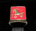 Picture of 21 x BRONZE MEN'S SIGNET RINGS CAPRICORN CAPRICORNUS ZODIAC RED WHOLESALE-LOT