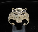 Picture of 21 x BRONZE ANIMAL RINGS SMALL WOLF COYOTE WOLVERINE WHOLESALE-LOT