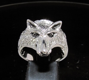 Picture of 21 x STERLING SILVER ANIMAL RINGS SMALL WOLF COYOTE WOLVERINE WHOLESALE-LOT