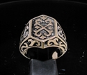 Picture of 21 x BRONZE MEN'S SIGNET RINGS CELTIC CROSS CREST COAT OF ARMS WHOLESALE-LOT