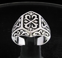 Picture of 21 x STERLING SILVER MEN'S SIGNET RINGS TEMPLAR CELTIC CREST COAT OF ARMS WHOLESALE-LOT