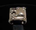 Picture of 21 x BRONZE MEN'S SIGNET RINGS SQUARE PANTHER HEAD WHOLESALE-LOT