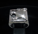 Picture of 21 x STERLING SILVER MEN'S SIGNET RINGS SQUARE PANTHER HEAD WHOLESALE-LOT