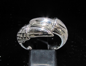 Picture of 21 x STERLING SILVER MEN'S FANTASY RINGS DRAGON CLAW TWO TALON WHOLESALE-LOT