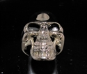 Picture of 21 x BRONZE MEN'S BIKER RINGS GRINNING PHANTOM SKULL STREETFIGHTER CLASSIC WHOLESALE-LOT