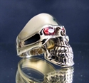 Picture of 21 x BRONZE RINGS PHANTOM SKULL STREETFIGHTER CLASSIC RED CZ EYES WHOLESALE-LOT