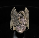 Picture of 21 x BRONZE MEN'S BIKER RINGS BIG EAGLE WITH SPREAD WINGS OF FREEDOM WHOLESALE-LOT